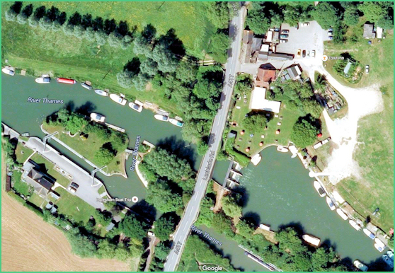 Aerial view of St Johns Lock Icon
